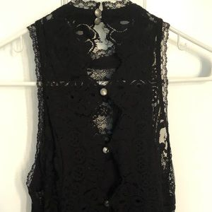 Free People Dresses - Free People Black Lace Cocktail Dress